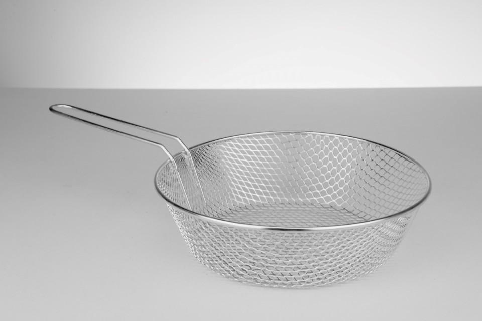 Kızartma Sepetleri - wok tava tipi - sabit kulplu